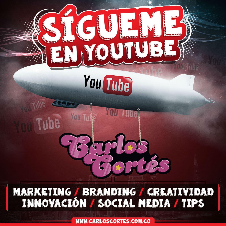 Canal de Youtube de Carlos Cortés