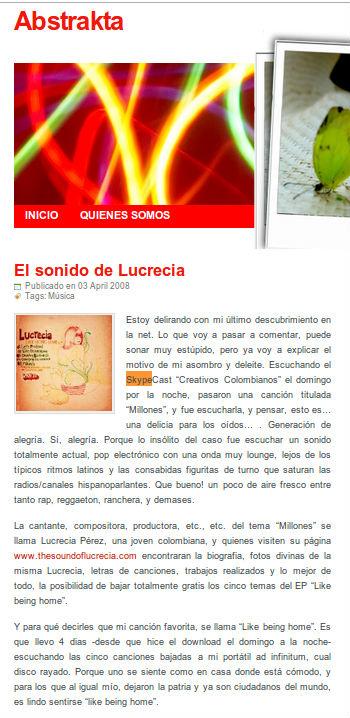 Skypecast Creativos Colombianos Lucrecia Pérez