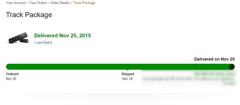 Track Package Amazon Linio
