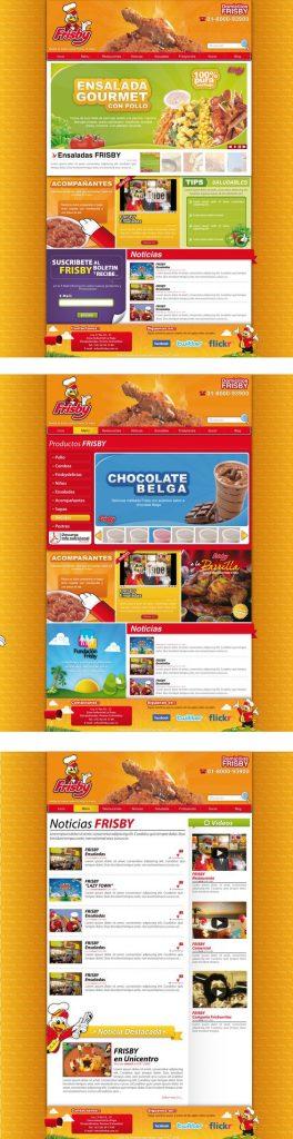 diseño de páginas web pereira frisby