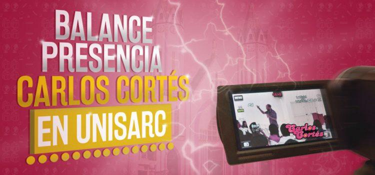 Balance presencia Carlos Cortés en Unisarc