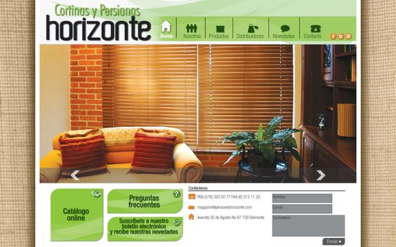 persianas horizonte diseño de páginas web pereira