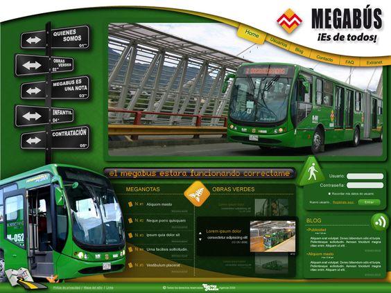 diseño de páginas web pereira Megabús