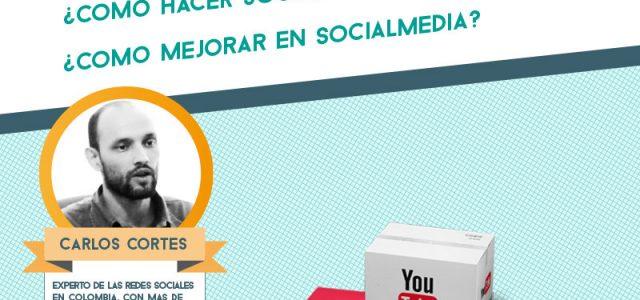Carlos Cortés y el OCDS presentando informe sectorial Social Media Turismo Colombia