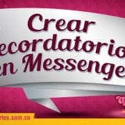 Crear recordatorios en Facebook Messenger