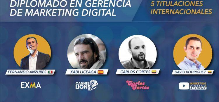 Balance presencia Carlos Cortés Diplomado en Gerencia de marketing Digital