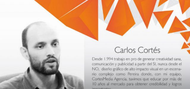 Carlos Cortés en la 4a velada de diseño. Universidad Nacional de Colombia sede Palmira