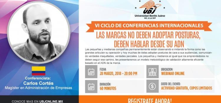 Carlos Cortés en Webinar con la Universidad Benito Juárez (UBJ) de México