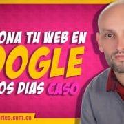 SEO en Google. Cómo posicionar una web en Google en pocos días