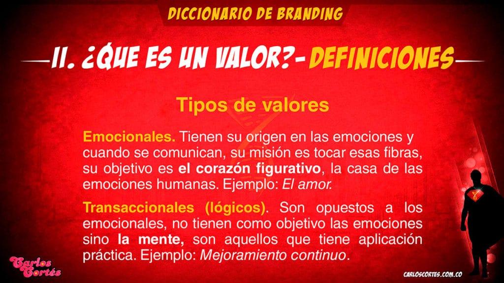 Los valores de marca emocionales y transaccionales son los más relevantes del modelo de Carlos Cortés