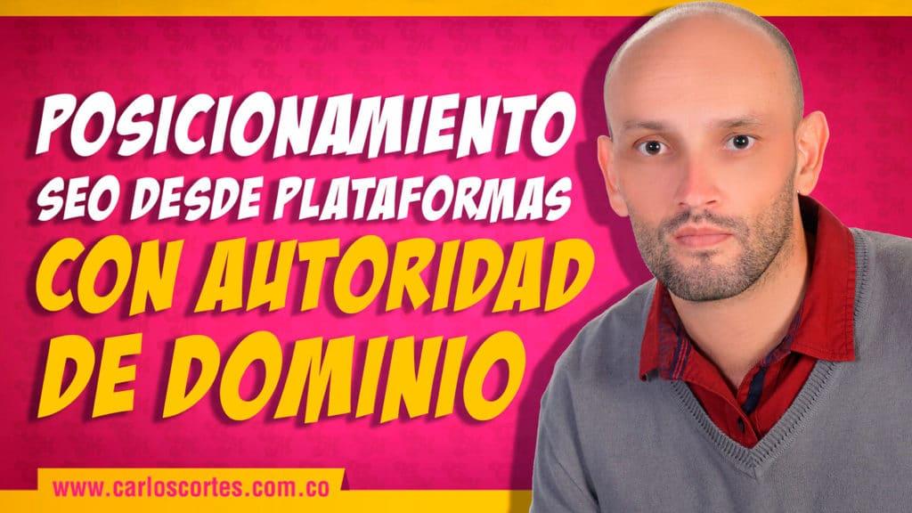 SEO desde plataformas con autoridad de dominio
