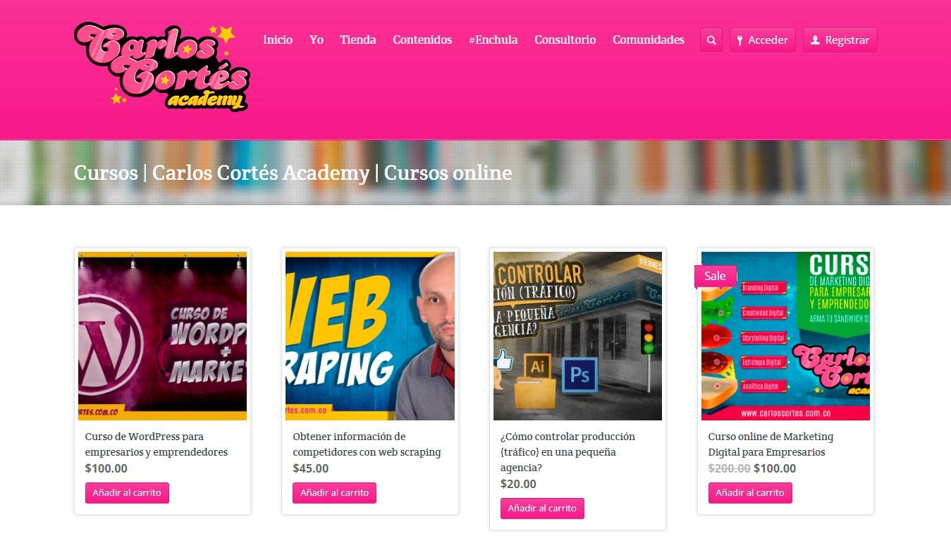 carlos cortés academy wordpress