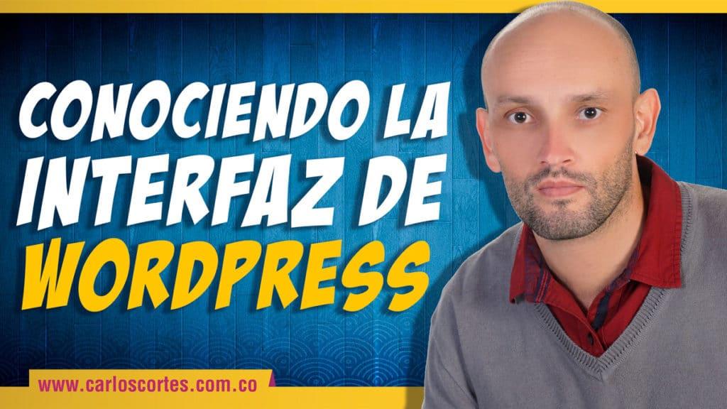 La interfaz de WordPress