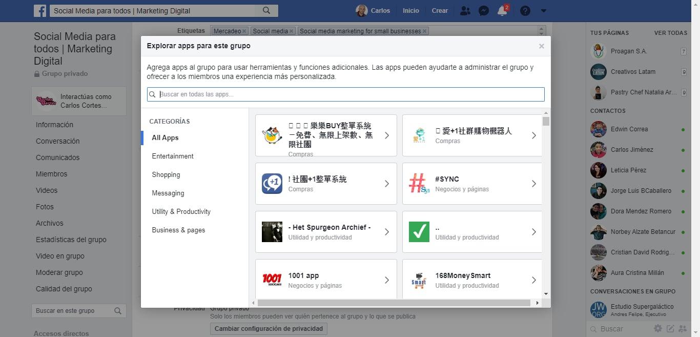 publicar a la vez en grupos de Facebook