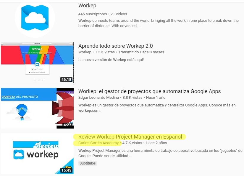 Workep en español