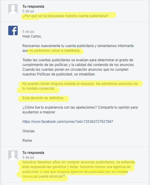 Facebook es una mala compañía