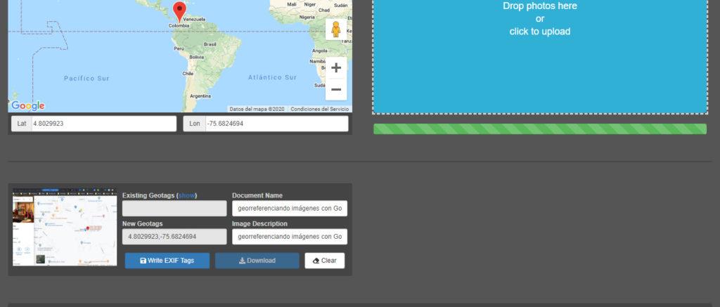 geoetiquetamiento de imágenes con Geoimgr
