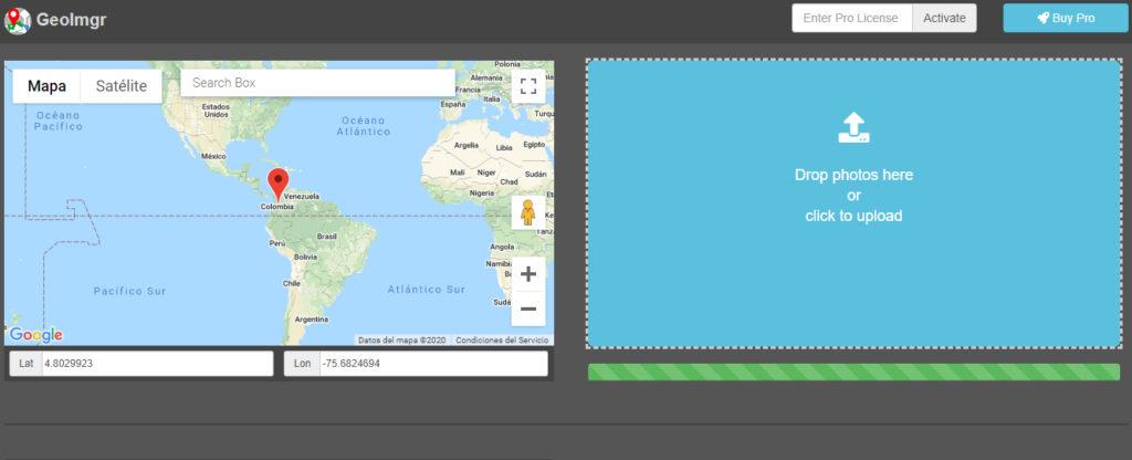 geoetiquetar imágenes con geoimgr