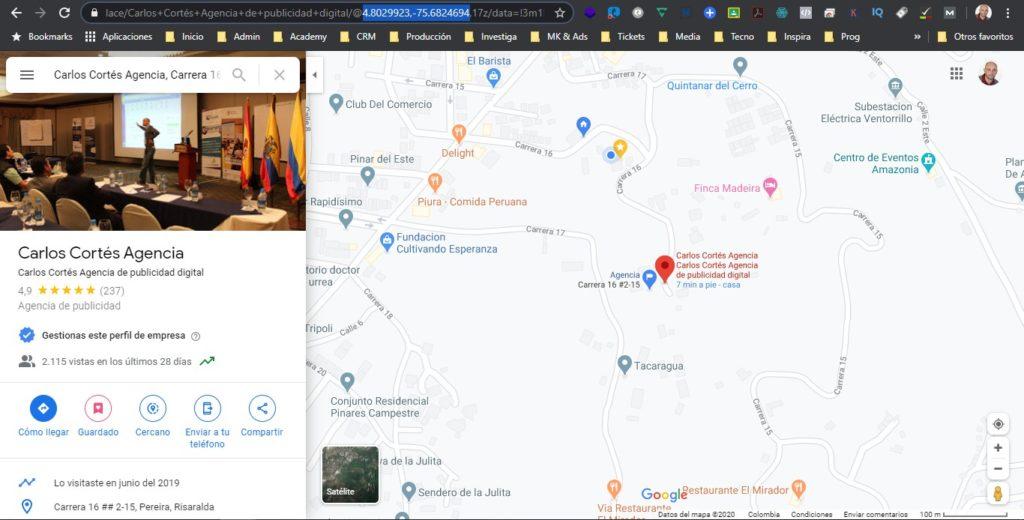 georreferenciando imágenes con Google Maps