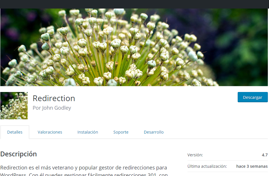 Redirection plugin wordpress john godley