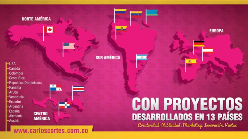 Países en los que Carlos Cortés ha dado consultoría en Marketing digital y branding