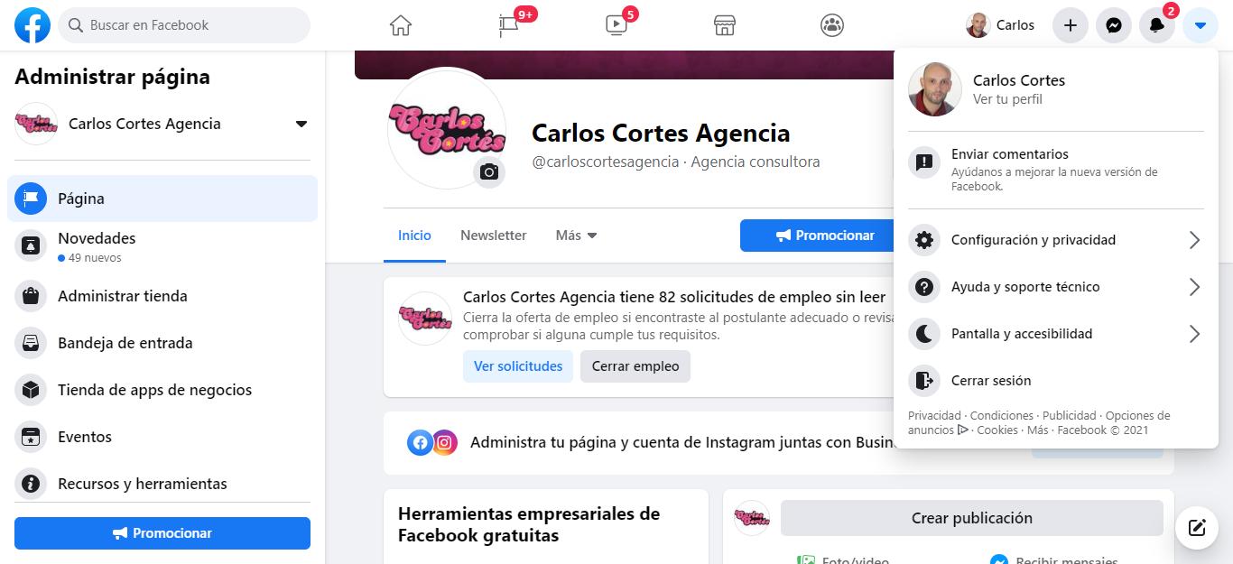 Facebook notes Configuración y privacidad