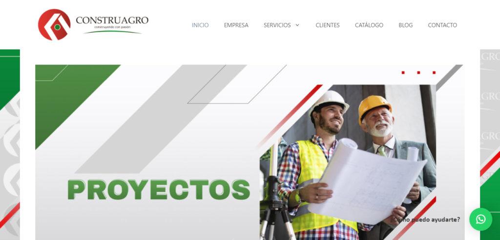 Diseño webste para Construagro SAS